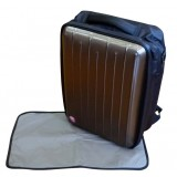 Simple Dimple Shield Papa MANTA *Golden Brown* Diaper Bag (XL) w Changing Mat