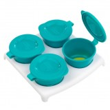 Tommee Tippee - Explora: Pop Up Freezer Pots & Tray x 4  *BPA FREE*