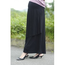 Autumnz - Breezy Maternity Long Skirt  *Black*