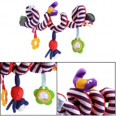 Baby Wrap Around Stroller Toy *Purple Stripes/Red Dots*