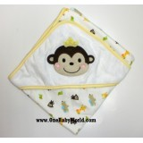 Premium Hooded Rcg Blanket/Towel - Cheerful Monkey