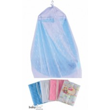 Baby Love - Cradle Mosquito Net (779 E) with Zip *Embroidered* (BL3511Z) *BEST BUY*