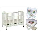 Seni Daya - Standard Baby Cot (SDB823) & LATEX Mattress & 7pcs Crib Set Package