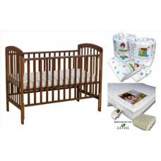 Seni Daya - Standard Baby Cot (SDB892) & LATEX Mattress & 7pcs Crib Set Package