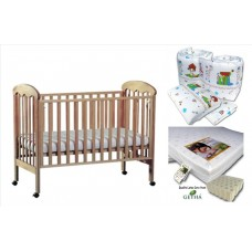 Seni Daya - Standard Baby Cot (Diona) & LATEX Mattress & 7pcs Crib Set Package