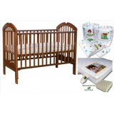 Seni Daya - 4-in-1 Convertible Cot (SDB886) & LATEX Mattress & 7pcs Crib Set Package