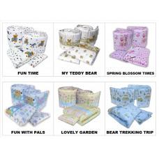 Seni Daya - Standard Baby Cot (SDB892) & FIBER Mattress & 7pcs Crib Set Package