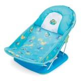 Adorable - Newborn FoldAway Baby Bath Tub w PILLOW (Blue Turtle)