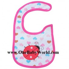 Adorable Bib -  Ladybird with Hearts