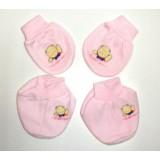 Adorable Mitten Booties Set - Teddy Bear *Pink*