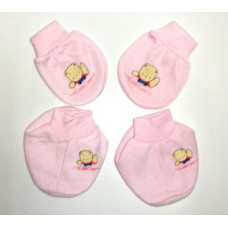 Adorable Mitten Booties Set - Teddy Bear *Pink*