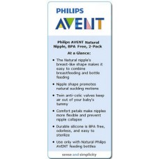 Philips Avent - Teat Natural Newborn 0M> - 2 pcs/ Pack