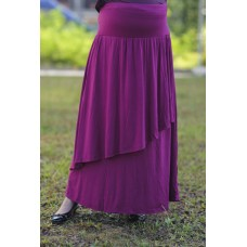 Autumnz - Breezy Maternity Long Skirt  *Fuchsia*