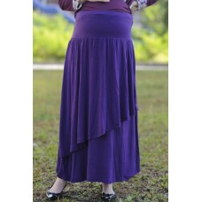 Autumnz - Breezy Maternity Long Skirt  *Purple*