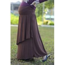 Autumnz - Breezy Maternity Long Skirt  *Mocha*