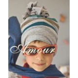 Adorable Country Pixie Hat - Stripy Grey