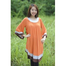 Autumnz - Arabella 2-in-1 Maternity/Nursing Tunic (Tangerine)
