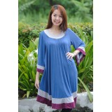 Autumnz - Arabella 2-in-1 Maternity/Nursing Tunic (Blue)