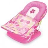 Adorable - Newborn FoldAway Baby Bath Tub w PILLOW (Pink Dots)