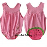 Adorable U-Neck Romper *Watermelon (Polka Pink)*