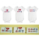 Mom's Care- 3 pc SS rompers set *Option A*