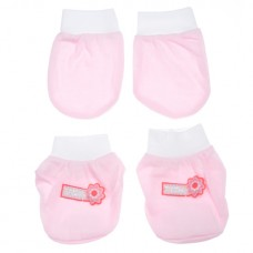 Adorable Mitten Booties Set - Sweet Pink