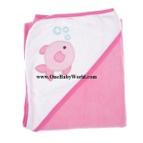 Adorable - MyVerySoft Hooded BBTowel *Burp Burp (Pink)*