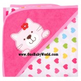 Premium Hooded Rcg Blanket/Towel - Kitty Hearts