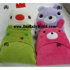 Adorable - Soft Hooded Bath Blanket - *Assorted* (1pc)