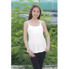 Autumnz- ADELE Padded Maternity/Nursing Tank *White*