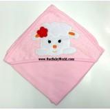 Premium Hooded Rcg Blanket/Towel - Sweetie Lamb