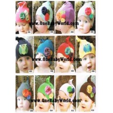 Adorable - Knot Hat *Floral/Owl*