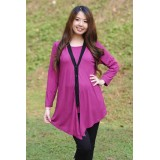 Autumnz - Chanelle 2-in-1 Maternity/Nursing Tunic (Violet)