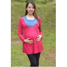 Autumnz - Myra 2-in-1 Maternity/Nursing Tunic (Rose/Ocean)