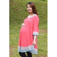 Autumnz - Arabella 2-in-1 Maternity/Nursing Tunic(Parisian Pink)