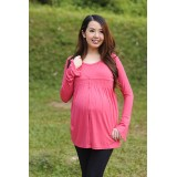 Autumnz - Eliza 2-in-1 Maternity/Nursing Top (Rose)