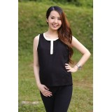 Autumnz- Essential Nursing Tank *Black/Yellow*