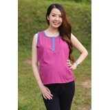 Autumnz- Essential Nursing Tank *Fuchsia/Blue*
