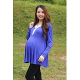 Autumnz - Ingrid 2-in-1 Maternity/Nursing Top (Duke Blue)