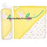 Premium Hooded Receiving Blanket-  Sunflower *LIGHT Yellow*