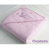 Clevamama-Splash & Wrap Baby Bath Towel (Pink)