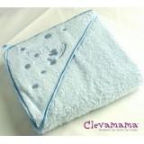 Clevamama-Splash & Wrap Baby Bath Towel (Blue)