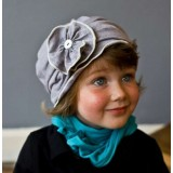 Adorable Country Pixie Hat - Girly Grey
