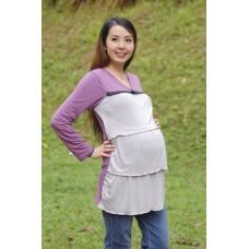 Autumnz - Merilyn Long Sleeved NursingTunic (Pewter)