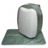 Simple Dimple Shield Backpack Diaper Bag w Changing Mat *White*
