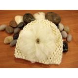 Bumble Bee - Crochet Hat *Ivory Beige*