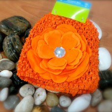 Bumble Bee - Crochet Hat *Bright Orange*