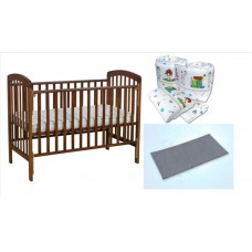 Seni Daya - Standard Baby Cot (SDB892) & WATER Mattress & 7pcs Crib Set Package