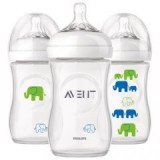 Philips Avent - Bottle Natural 260 ML/9OZ - Elephant *Boy* (Single Pack)