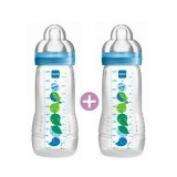 MAM - Easy Active Baby Feeding Bottle 330ml (Twin Pack)